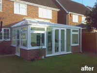 after conservatory added